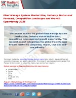 Fleet Manage System Market Size, Industry Status and Forecast, Competition Landscape and Growth Opportunity 2025