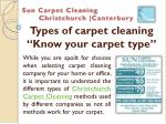 Types of carpet cleaning: Know your carpet type