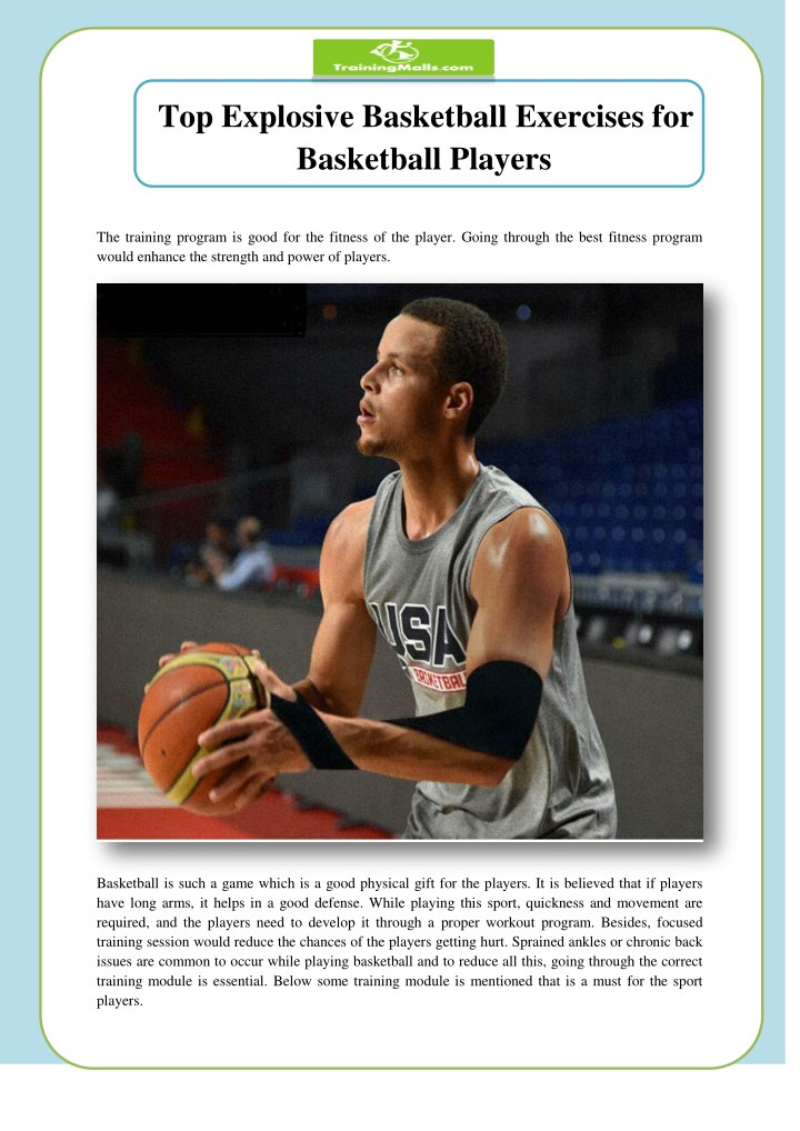 PPT - Top Explosive Basketball Exercises for Basketball Players