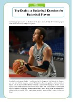 Top Explosive Basketball Exercises for Basketball Players