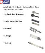 Axis stainless steel cable ties and markers