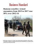 Ramzan ceasefire: Armed encounters from 2015 to 2017 rose 50% over 2012-14