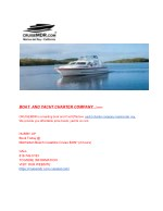 BOAT  AND YACHT CHARTER COMPANY