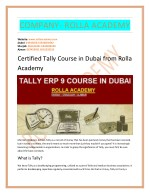 Certified Tally course in Dubai from Rolla Academy