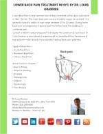 Lower Back Pain Treatment in NYC by Dr. Louis Granirer