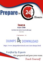 2018 CISM Exam Preparation Tips - Pass In 24 Hours - Dumps4Download