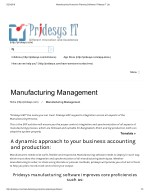 Manufacturing Production Planning Software | Pridesys IT Ltd