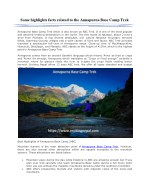 Some highlights facts related to the Annapurna Base Camp Trek