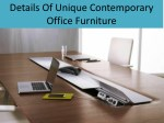 Details Of Unique Contemporary Office Furniture