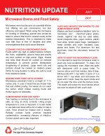 Microwave oven and food safety