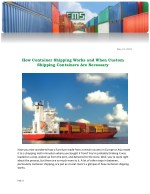 How Container Shipping Works and When Custom Shipping Containers Are Necessary