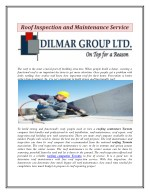 Roof Inspection and Maintenance Service