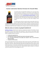 Custom Lubrication Solution Orrstown for Smooth Rides