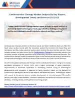 Cardiovascular Therapy Market Analysis By Key Players, Development Trend, and Forecast Till 2025