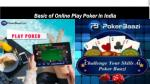 Basic of Online Play Poker in India