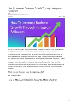 How to Increase Business Growth Through Instagram Followers
