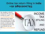 Is having PAN mandatory for File income tax return online in India 09891200793?