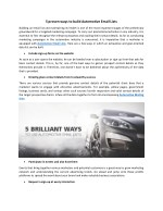 5 proven ways to build Automotive Email Lists