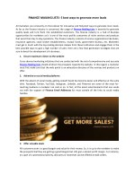 Finance Mailing Lists | Finance Email Addresses | Pioneer Lists