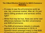 The 3 Most Effective Channels for B2B ECommerce Marketing