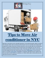 Tips to Move Air conditioner in NYC