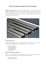 Why rely on stainless steel square bars for various purposes?