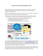 Consider the Facts before Buying Medicine Online