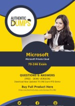 70-246 Exam Questions - Pass with Valid Microsoft 70-246 Exam Dumps PDF