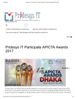 Pridesys IT Perticipate The Asia Pacific ICT Alliance Awards-APICTA 2017