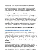 Automotive Automatic Transmission System Industry: 2018 Global Market, Trends, Size, Growth, Share, And 2025 Forecast Re