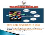 Hire App Developer in USA | Hire Mobile App Developer in USA