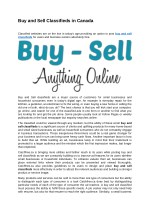 Buy and Sell Classifieds in Canada