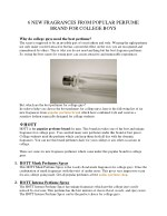6 NEW FRAGRANCES FROM POPULAR PERFUME BRAND FOR COLLEGE BOYS