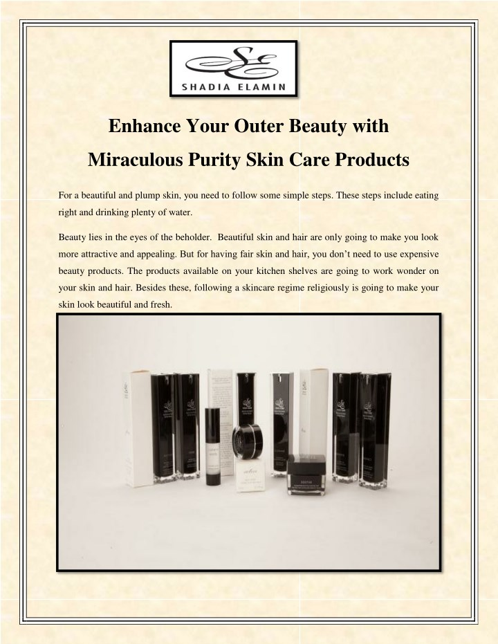 enhance your outer beauty with n.