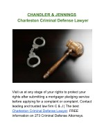 Top DUI Lawyer | Criminal Defense Attorney in Charleston SC