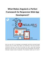 What Makes AngularJs a Perfect Framework for Responsive Web App Development?