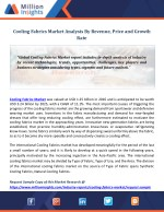 Cooling Fabrics Market Analysis By Revenue, Price and Growth Rate