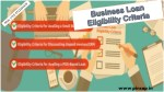 Business Loan Eligibility Criteria
