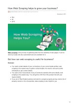 Web Scraping Helps to Grow Business