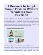 2 Reasons to Adopt Simple Fashion Website Templates from 99Dezine