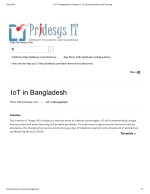 IOT in Bangladesh | Pridesys IT Ltd | Enterprise Resource Planning