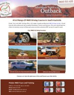 A Full Range Of 4WD Driving Courses in South Australia