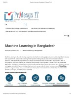 Machine Learning in Bangladesh | Pridesys IT Ltd