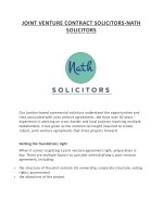 JOINT VENTURE CONTRACT SOLICITORS-NATH SOLICITORS