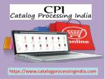 Ecommerce Catalog Processing Services for Amazon, eBay, Magento and Shopify