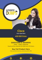 650-968 Dumps - Get Actual Cisco 650-968 Exam Questions with Verified Answers 2018