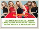 2 piece homecoming dresses