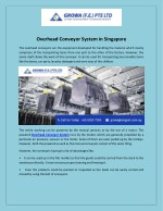 Overhead Conveyor System in Singapore