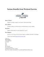 Various Benefits from Workout Exercise