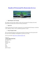Benefits of Professional Fire Restoration Services